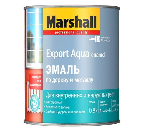Эмаль 'Marshall' Экспорт Аква на водной основе  глянцевая белая (0,8л)