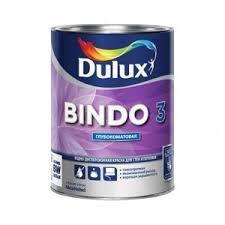 Краска 'Dulux' Bindo 3 в/д для стен и потолков глубокоматовая база BW 1л.