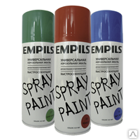 Краска аэрозольная Empils для вн. и нар. работ серебристо-серая 425мл(1216-