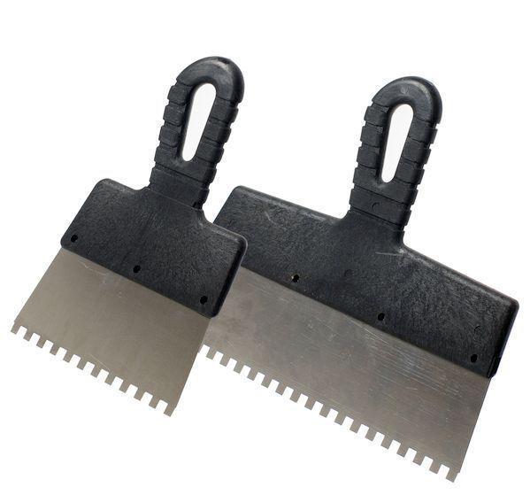Шпатель нержавеющий зубчатый 250/8мм WORK(06638-1)
