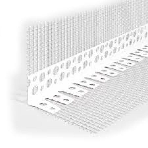 Уголок перфорированный пластиковый с сеткой 3 м