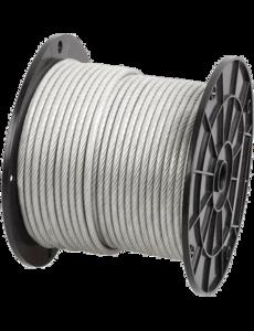 Трос сталь круглопрядный SWR M 1.5 DIN 3055 (200м)