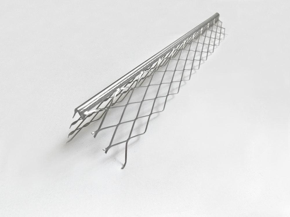 Уголок металлический с металлической сеткой для цементной штукатурки 3 м