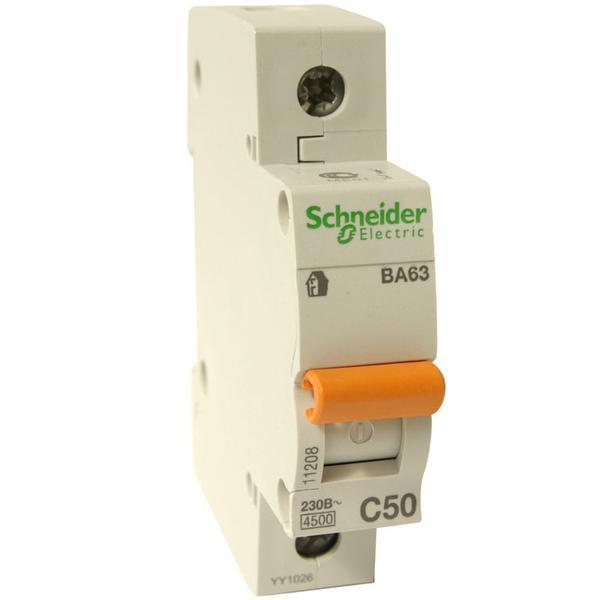 Выключатель автоматический ВА63 3Р 50А кривая С 4,5 кА